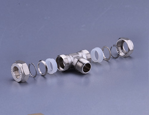Brass Fitting For Stainless Steel Bellows-Male Tee TD906