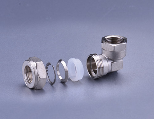 Brass Fitting For Stainless Steel Bellows-Female Elbow TD908