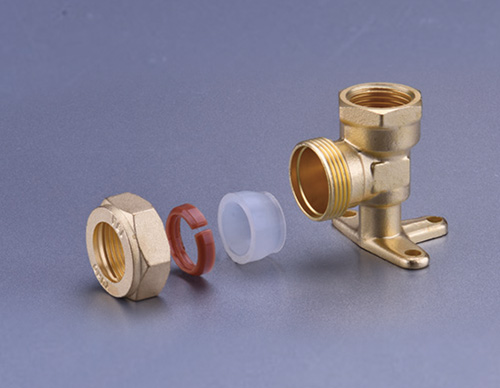 Brass Fitting For Stainless Steel Bellows-Female Elbow With Seat TD918
